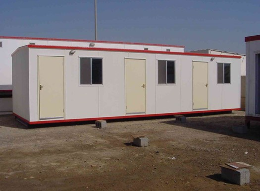 Offices, security cabins and toilets