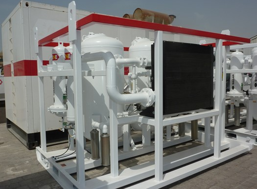 Heatless regenerative desiccant dryers