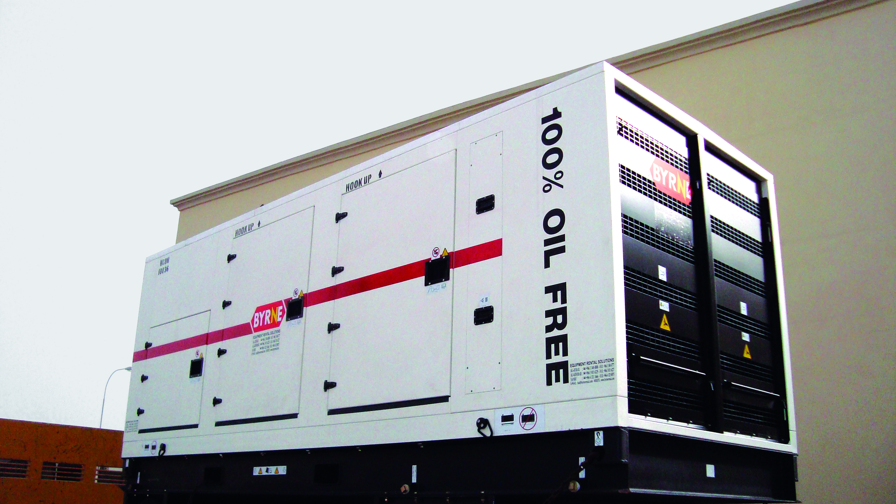 Oil-free air compressor rental