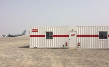 Army camp Oman - container office