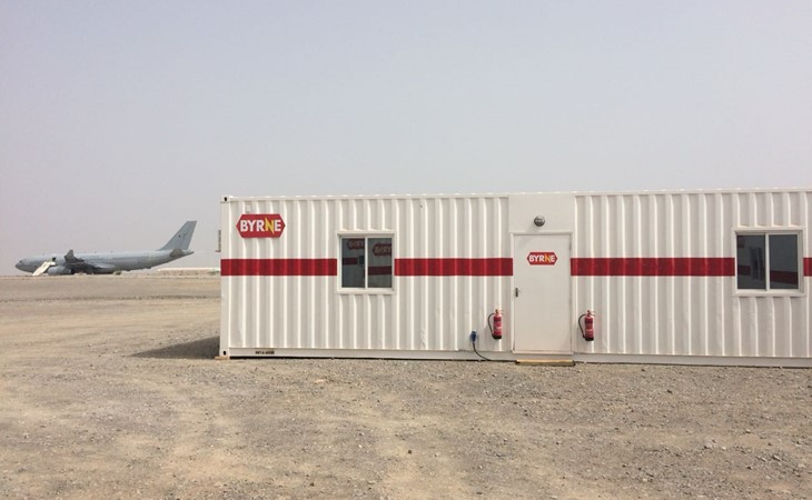 Temporary Buildings for Army Camp, Oman | Byrne Equipment Rental